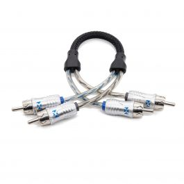 0.25m (0.82 ft) 2-Channel RCA Audio Interconnect Cable