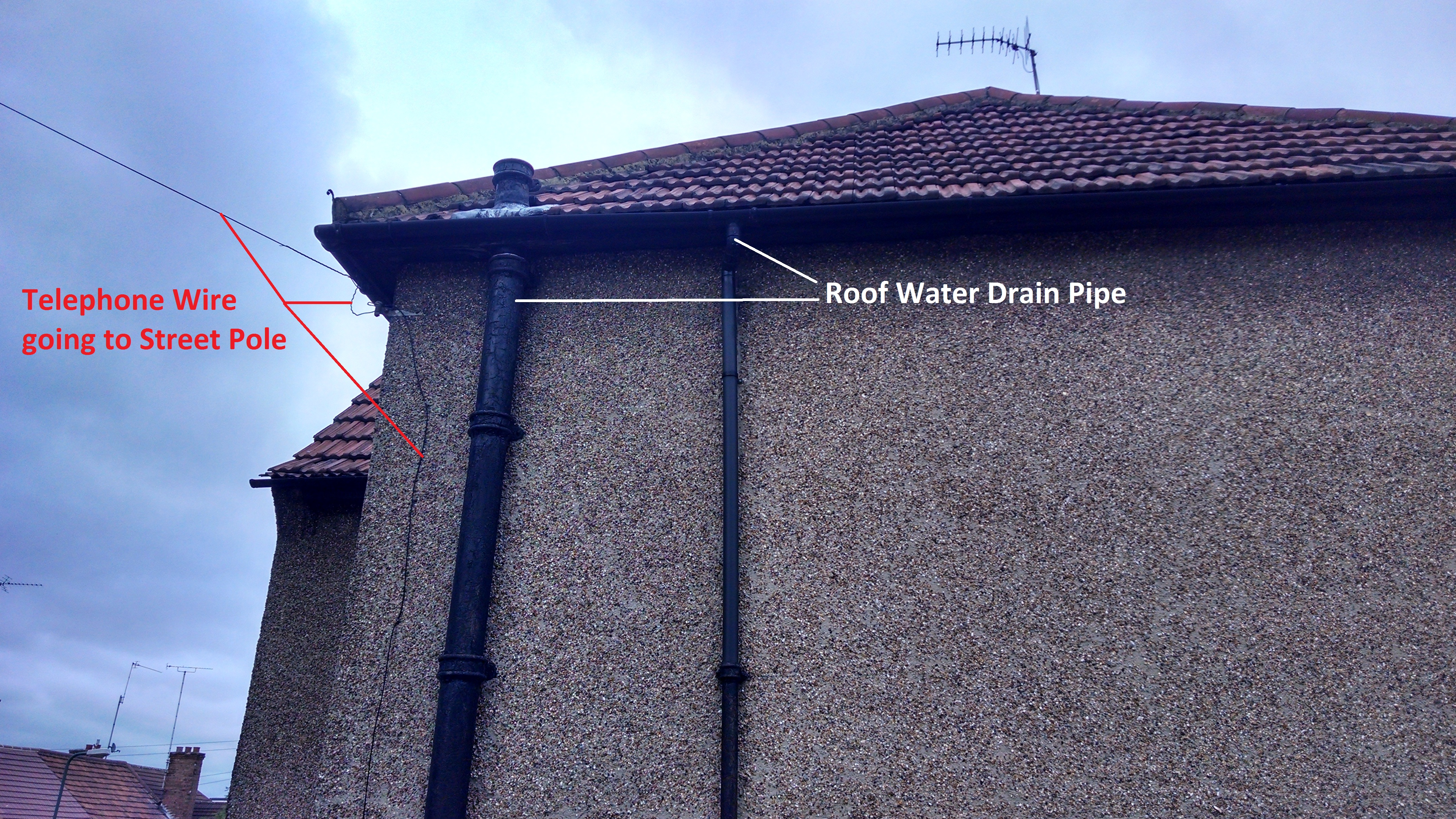 External Gas Drainage  Waste Pipes  Home project