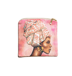 African Woman Pomegranate Small Bag