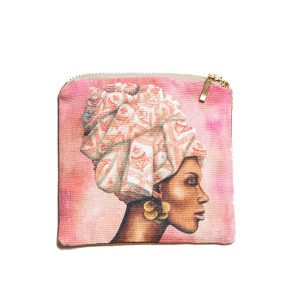 African Woman Pomegranat Coin Purse