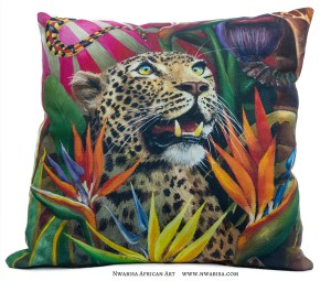 Pillow African Jungle Leopard