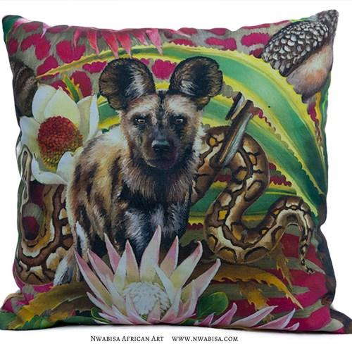 Pillow African Jungle Wild Dog