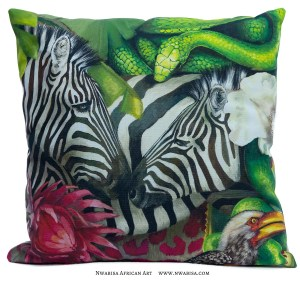 Pillow_African Jungle_Zebra