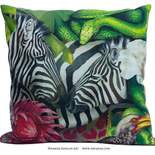 Pillow_African Jungle_Zebra