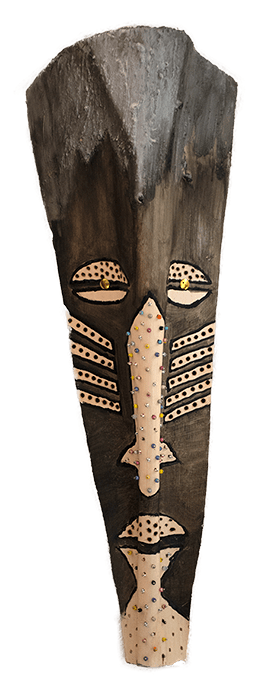 Vusi Palm frond mask by Bob Bobzin Mnisi