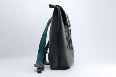 N&N Backpack Laptop bag Standing side view colour straps