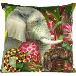 African Jungle: Elephant Pillow Cover