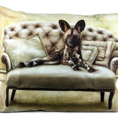 Pillowcase with African Wild Dog