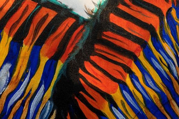Zebra Pair Blue Orange Closeup_3 2000pix