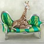 Wildlife at Leisure: Giraffe Fridge Magnet