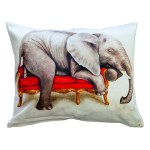 Wildlife at Leisure: Elephant Pillow Cover (Large)