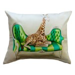 Wildlife at Leisure: Giraffe Pillow Cover (Large)