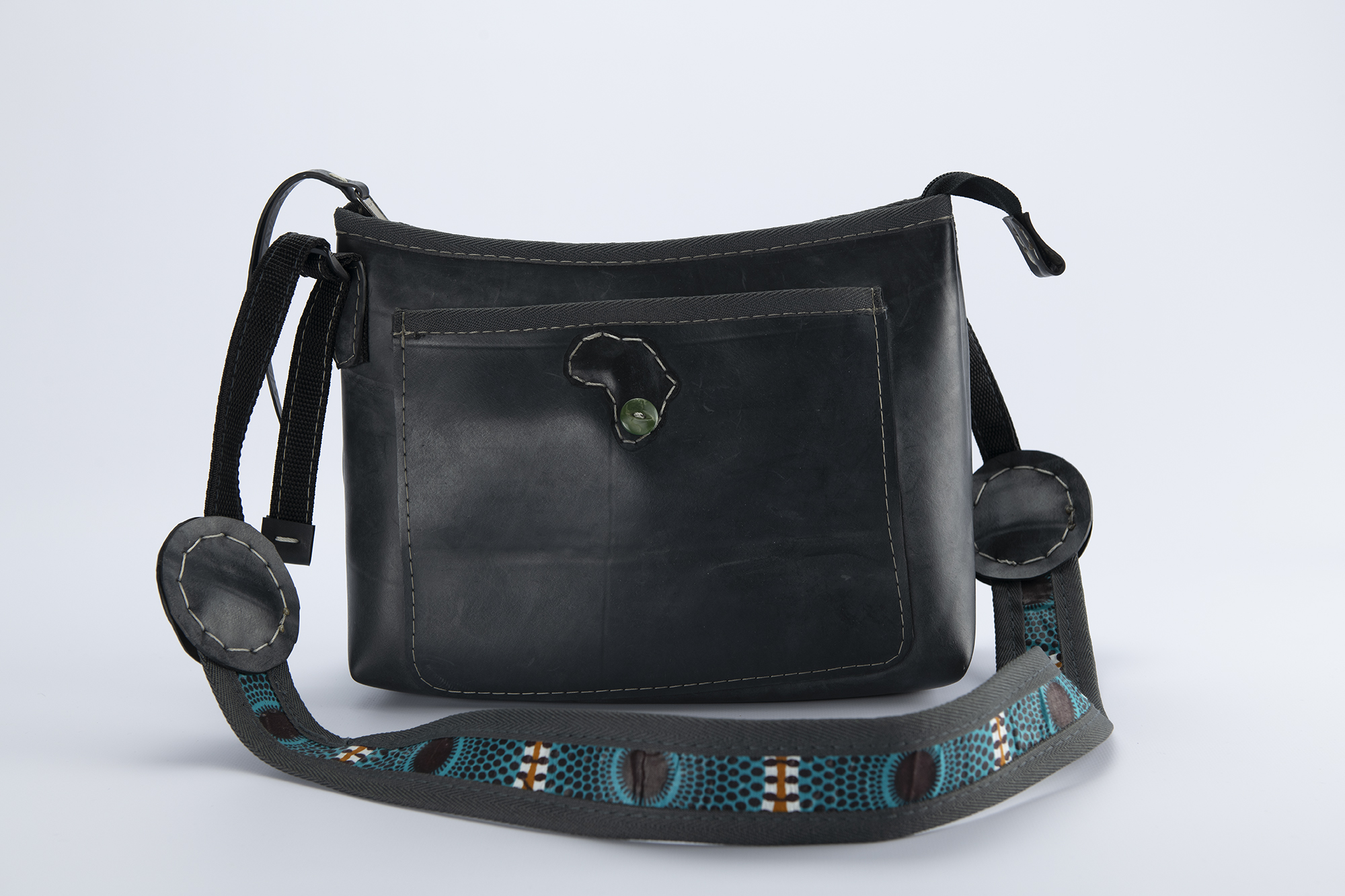 Nick and Nichols Shoulder Sling bag made out of recycled car tyre tube