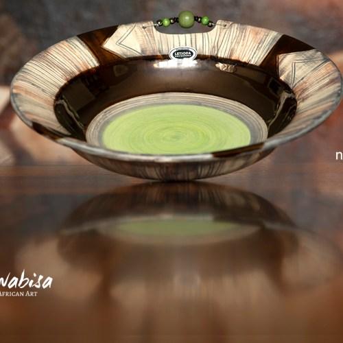 Letsopa Bowl Geen bottom Nwabisa African Art
