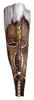 Nduna Palm Frond Mask by Bob Mnisi