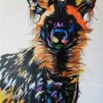 Painted dog (Wildhund) von Justin Mashora