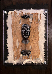 Pebble figure African girl decorative artwork
