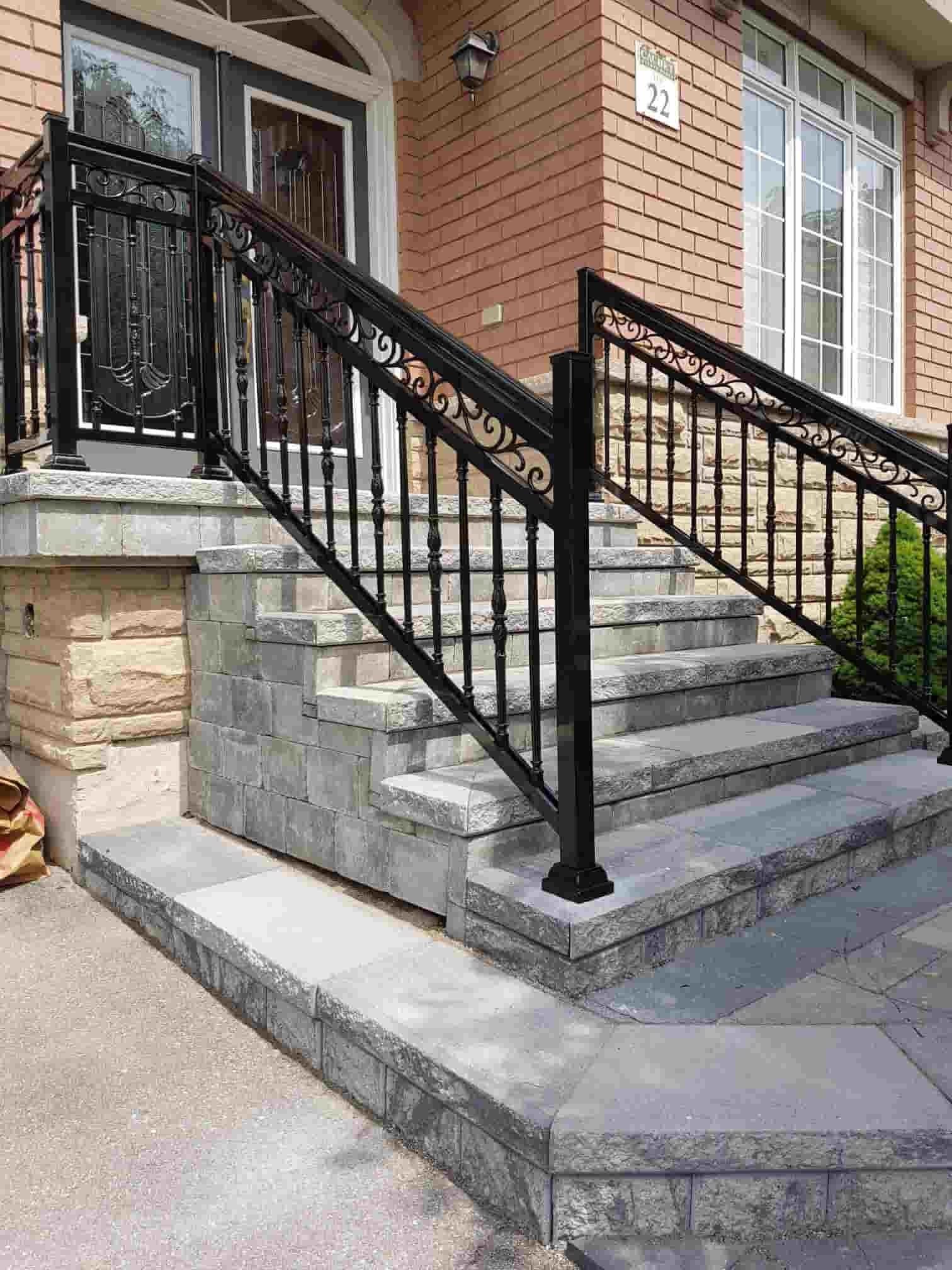 Aluminum Outdoor Stair Railings Railing System Ideas Diy   Aluminum Railing For Outside Steps
