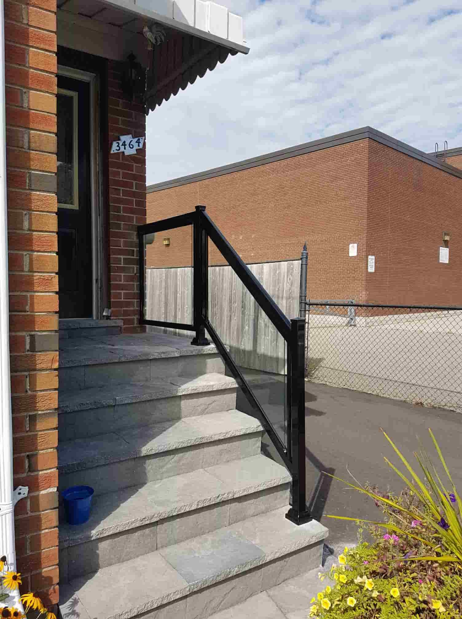Aluminum Outdoor Stair Railings Railing System Ideas Diy | Diy Handrails For Exterior Stairs