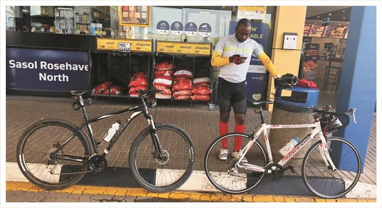 Cycling for charity with Ntwanano Ngobeni 3