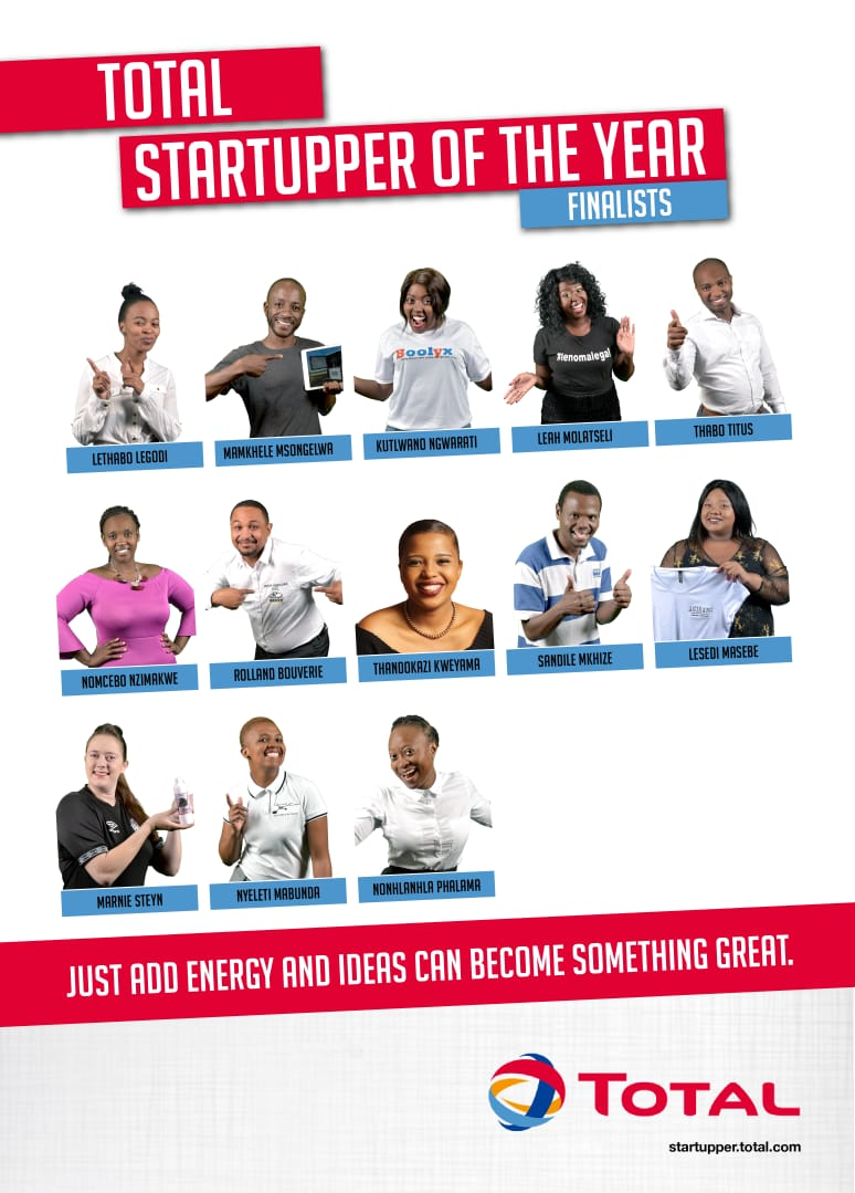 Vahlave's wildest dream, Nyeleti Mabunda made it to the top 13 of Total South Africa Startupper challenge 1