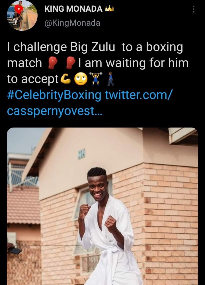 Did King Monada bite off more than he can chew by publicly challenging Big Zulu to a boxing match....