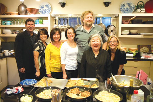 Dinner guests, from left to right: Edgar Martinez, Brenda Miyake, Mimi Gan, Katherine Cheng, Tom Douglas, Tomoko Matsuno, and Holli Martinez.