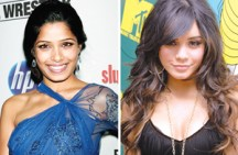 Freida Pinto (left) and Vanessa Hudgens