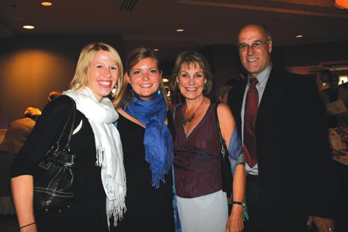 MEDRIX Dinner attendees, from left: Jennifer McClenahan, Lindsey Faber, Barbara Jabbusch, and Mark Jabbusch