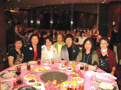 Sitting down for a meal together are women who have been friends since 1970. (Photo by John Chan)