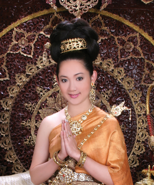 Defining thai america locals connect with thai culture a photo of nina saisombut using the thai greeting sawasdee meaning hello in thai m4hsunfo