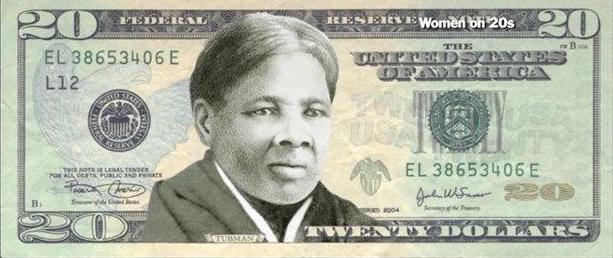 Harriet Tubman on a $20 bill