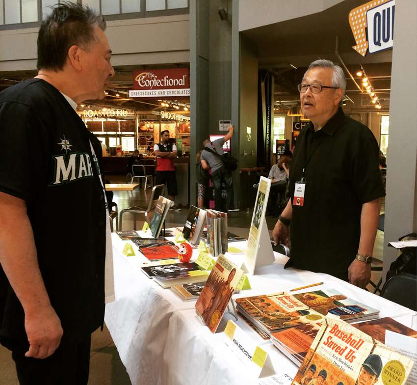 Jerry Lee and book author Larry Matsuda. (Photo by Assunta Ng/NWAW)