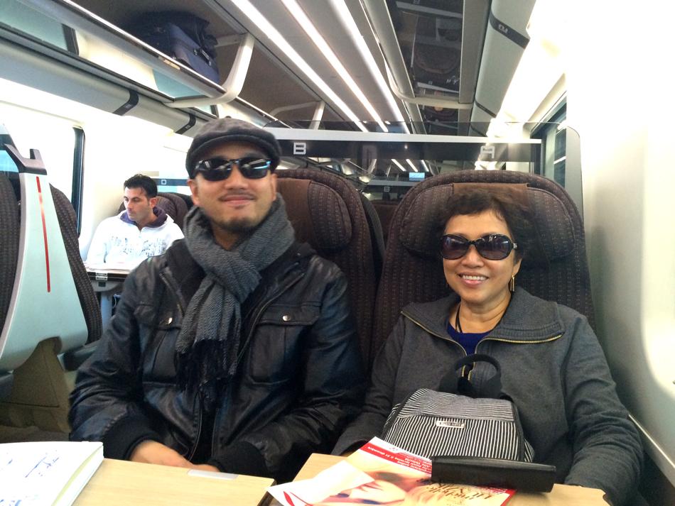 Joaquin Uy and mom