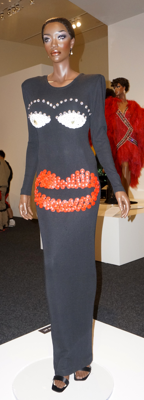 Evening dress by Patrick Kelly. (Photo by George Liu/NWAW)