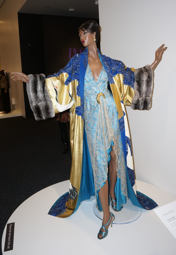 Evening coat based on the formal Japanese kimono, designed by Hanae Mori. (Photo by George Liu/NWAW)