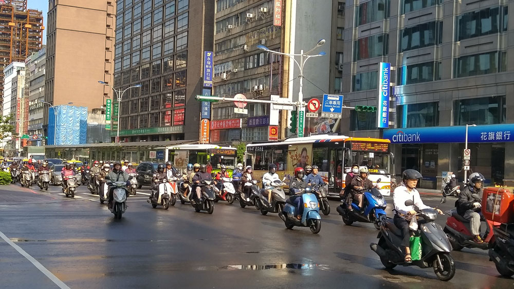 Mopeds are a popular mode of transportation in Taiwan, and great for navigating narrow alleys.