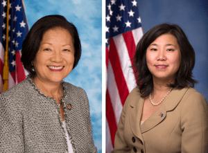 U.S. Sen. Mazie Hirono (left) and Rep. Grace Meng