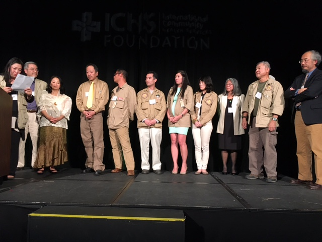Board members and volunteers of the Donnie Chin-founded organization, International District Emergency Center (IDEC), accepted the Bamboo Award on their late leader's behalf. (Photo by John Liu/NWAW)