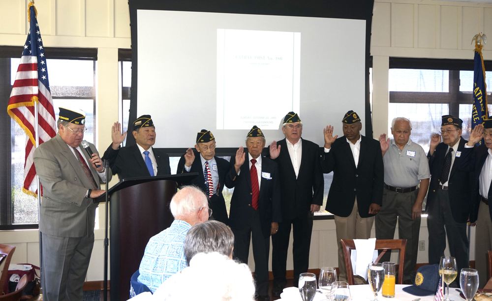 Honoring vets of Cathay Post #186 at its 70th anniversary celebration. (Photo by George Liu/NWAW)