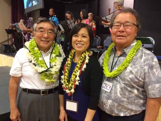 From left: Tetsuden Kashima, Gail Nomura, and Stephen Sumida. (Photo by Assunta Ng/NWAW)