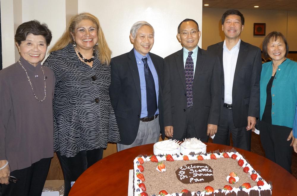 From left: Evelyn Yenson, Rosa Melendez, Wayne Lau, Dr. Shouan Pan, Michael Lock, May Lukens