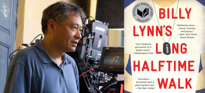 "Ang Lee and ""Billy Lynn's Long Halftime Walk"" cover"