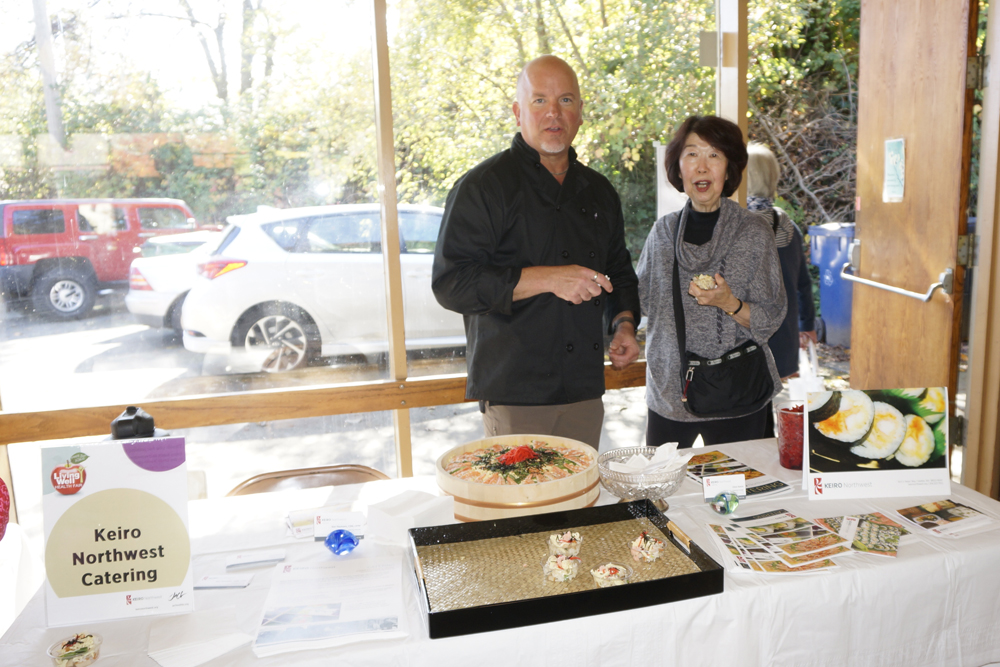 Chef Ron Youmans, Director of Catering at Keiro Northwest and Peggy Tanemura. (Photo by Assunta Ng/NWAW)