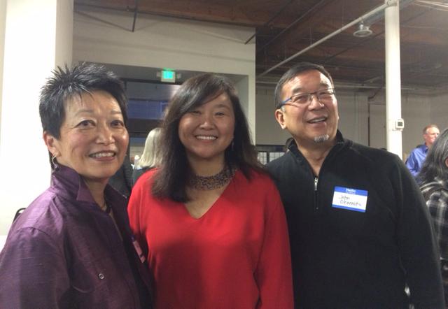 From left: Diane Sugimura, Mami Hara, and John Okamoto. (Photo by Assunta Ng/NWAW)