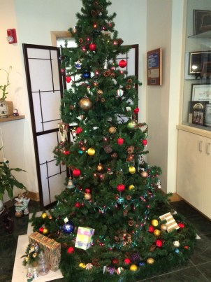 Christmas tree with little gifts (Photo by Assunta Ng/NWAW)