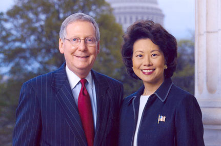 Elaine Chao and husband Mitchell McConnell