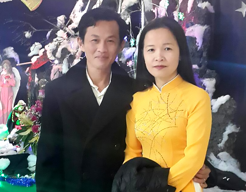 My-Linh Nguyen (right) and her husband, Lam Lieu. (Photo from GoFundMe page)