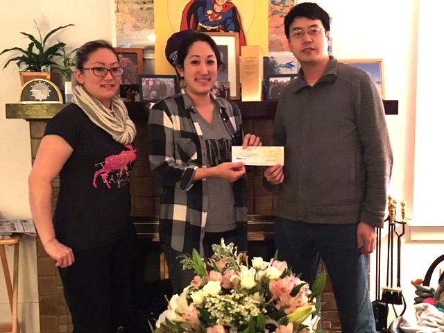 From left: Alysa Sugiyama, Mari Sugiyama, and John Liu