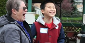 Easter egg hunt for visually impaired kids